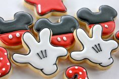 18 Mickey Mouse themed Cookies by YankeeGirlYummies on Etsy