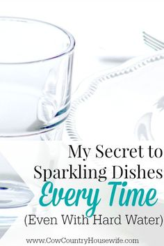 Dishwashers are supposed to make your life easier, right? But what happens when they make your dishes look dirty and gross?! Having cloudy or dirty looking glasses and plates is not something that you need! Even with hard water, adding this ONE thing into you dishwasher will not just keep your glasses sparkling, but it will keep your dishwasher running smoothly!