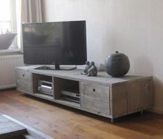 Steigerhout Tv Meubel - Greywash
