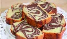 Marble cake is an easy and delicious cake and a classic that never goes out of fashion👍 Have fun😁. Mix butter and sugar light and porous. Brownie Desserts, Oreo Dessert, Mini Desserts, Just Desserts, Delicious Desserts, Yummy Food, Marble Pound Cakes, Marble Cake Recipes, Pound Cake Recipes