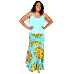 African Ankara Print Maxi Skirt, The ANADIA Skirt