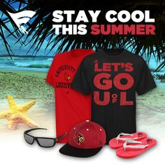 Stay cool and show your Cardinal spirit all summer long! Check out the Louisville summer collection here!