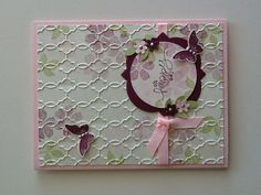 Bloomin' Marvelous Card Stampin Up (SU) Cute Cards, Diy Cards, Your Cards, Butterfly Cards, Flower Cards, Card Making Inspiration, Making Ideas, Embossed Cards, Scrapbook Cards