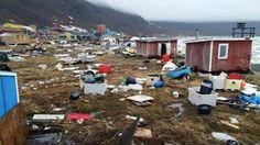 06/18/2017 - Tsunami waves damage some villages on the Greenland coast - 4 people missing, 9 injured (2 serious)