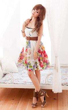 Shabby chic floral dress
