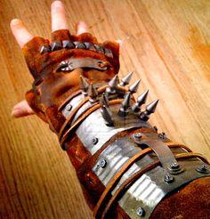 Spiky gloves!!! Raider's Gauntlet by ~heartofcinder on deviantART