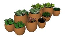 Large preview of 3D Model of Horta em vasos
