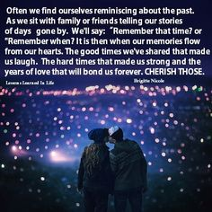 Often we find ourselves reminiscing about the past.  As we sit with family or friends telling our...
