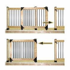 Hardware to build a sliding gate kit. Diy Dog Gate, Diy Gate, Diy Baby Gate, Sliding Fence Gate, Sliding Wooden Gates, Wooden Fence Gate, Wood Gates, Porch Gate, Building A Gate