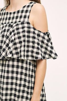 Ruffled Gingham Shift - anthropologie.com