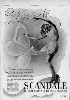 lingerie ad   Vintage Scandale Ad - Vintage Lingerie Advertising