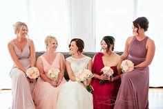 mismatched colourful bridesmaids dresses by Nancy Khau Boutique