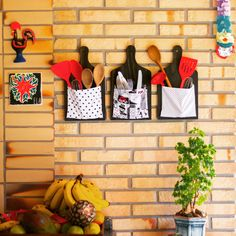 DIY - Porta talheres com tábua ❤❤ Aprenda a fazer essa decoração super útil para deixar a cozinha ainda mais fofa!!