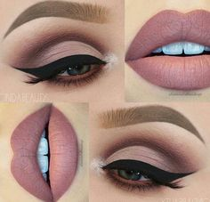 eye makeup Perfektes Make-Up fr Braune Augen! Perfektes Make-Up fr Braune Augen! Matte Makeup, Matte Eyeshadow, Eyeshadow Makeup, Lip Makeup, Eyeshadow Ideas, Makeup Art, Makeup Monolid, Beauty Makeup, Contour Makeup