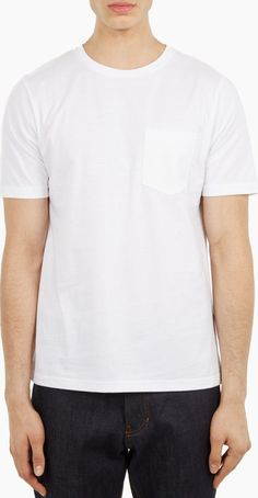 AMI White Pocket T-Shirt The AMI Pocket T-Shirt for SS16, seen here in white. - - - This t-shirt from Parisian brand AMI is crafted from soft cotton jersey and finished with a small pocket on the chest. - - - -Soft jersey con http://www.comparestoreprices.co.uk/january-2017-6/ami-white-pocket-t-shirt.asp