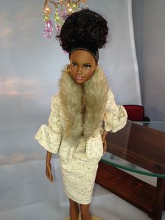 Foundation President Barbie 006 - an African American doll (Mbili/Grace) on Etsy, $79.99