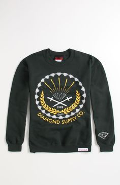 #DiamondSupplyCo Tradition Crew Fleece