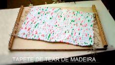 Artesanato: Tapete de tear de madeira - Craft: Mat wooden loom - Artesan...