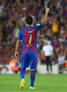 Arda Turan celebra el segundo gol para el Barça.