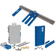 Pocket hole drill kit with saw guide