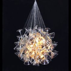 Martini glass chandelier!