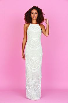 Our Aybree embellished maxi dress in white, is guaranteed to impress at any special event. High Street Wedding Dresses, Vintage Inspired Wedding Dresses, Maxi Dress Wedding, Stunning Wedding Dresses, Affordable Wedding Dresses, Bridesmaid Dresses, Sexy Dresses, Evening Dresses, Prom Dresses