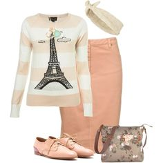 """""""Off to Paris"""" by modest-16 on Polyvore"""