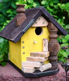 so cute!    Birdhouse Handmade Country Wine Cork by BirdhousesByMichele, $68.00