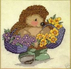 Hedgehog with Flower Basket