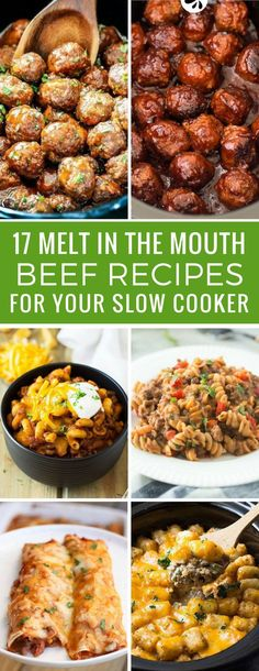 Comfort food! These slow cooker beef recipes are just what we need for Fall and Winter meal plans! Thanks for sharing!