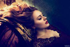 Lovely glamour portrait of Adele for Vogue by Mert Alas & Marcus Piggott. Annie Leibovitz, Gq, Pretty People, Beautiful People, Beautiful Voice, Alas Marcus Piggott, Kelly Osbourne, Steven Meisel, Vogue Magazine
