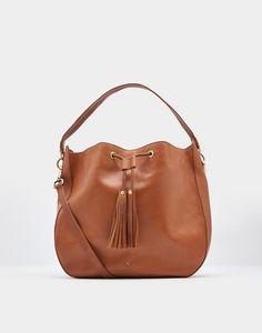 Beau Chesnut Leather Shoulder Purse Size One Joules Us Beautiful Handbags