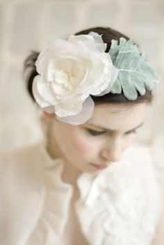 Vintage-style hair and neckline