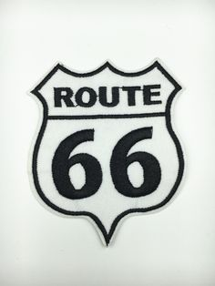 New to craftapplique on Etsy: 66 route 66 embroidery patch Embroidery patches patch Embroidered patch iron on patch sew on patch  A140 (2.30 USD)
