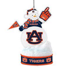 Auburn Tigers LED Snowman Ornament, Multicolor