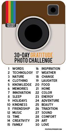 30 Day Challenge: 30 Days of Gratitude Photo Challenge for November