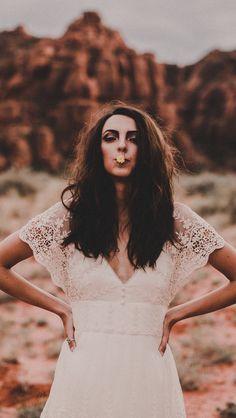 Bohemian lace Stevie bridal gown by Chantel Lauren
