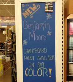 Chalkboard paint in colors! Playroom.