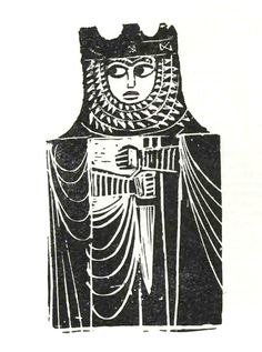 """Adam Kilian – Woodcut illustrations for the promo materials of """"Lilla Weneda"""" theatre play performed in Łódź, Poland, 1966"""