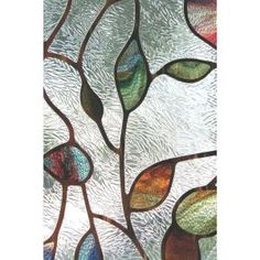 Free Shipping 3d View Frosted Stained Glass Static Cling Privacy
