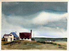 Michael Borne Watercolors Watercolour Paintings, Watercolor Ideas, Watercolour Tutorials, Watercolor Techniques, Watercolours, Art Thou, Artist Life, Art Nature, Art And Architecture