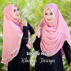 Hijab Instan Tarisya Model 2017 Terbaru Harga Murah double sifon ceruti dengan layer gelombang di bagian depan, serta aplikasi renda cotton di bagian