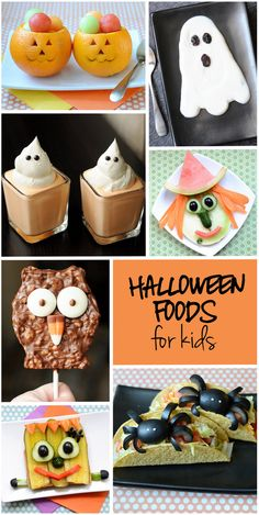 Round-up of fun and spooky Halloween foods for kids!