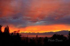 Rare split sunset in Hawaii