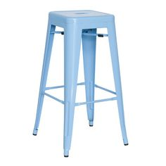 "Chintaly Alfresco 29.92"" Bar Stool (Set of 4) Finish: Blue"