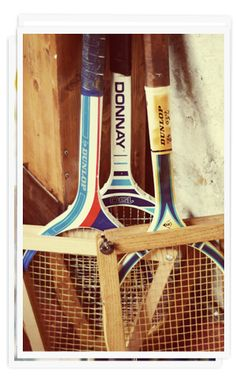 old #tennis rackets...
