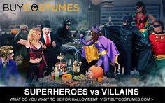 Superheroes vs. Villains Halloween Costumes at BuyCostumes