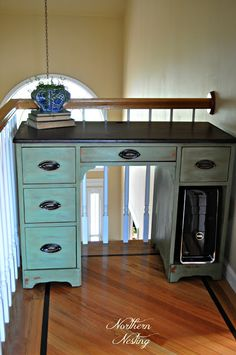 Northern Nesting: Painted Desk