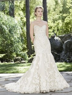 Casablana Style 2254, Daphne, is shown in Champagne/Ivory/Silver and a size 14.