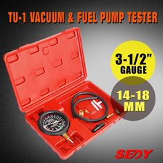 (31.71$)  Watch here  - HORUSDYCar Tester Manifold Gauge Test Carburetor Valve Fuel Pump Pressure & Vacuum45358